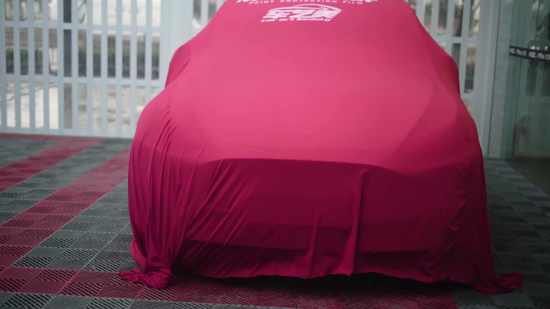 特斯拉Model Y装贴隐形车衣视频