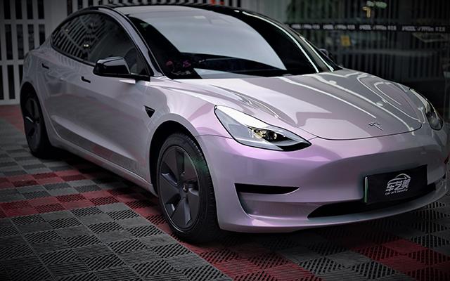 <b>特斯拉model3改色膜灰紫色</b>